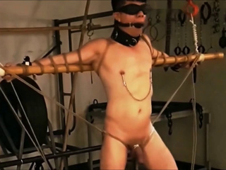 Gay sex slave tied up and punished