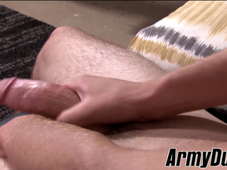 Sexy jock Bo Connor rubs his long and thick meaty shaft