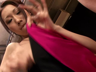 Busty asian blowjob