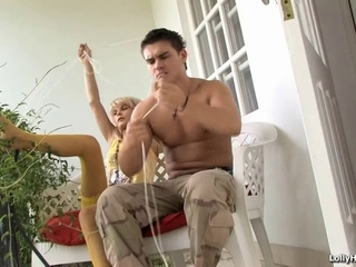 beautiful blonde brutally fucked by her man