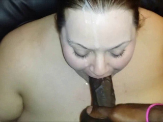Chunky white chick blowing BBC