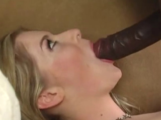 Haley scott takes Mandingo and his big black cock