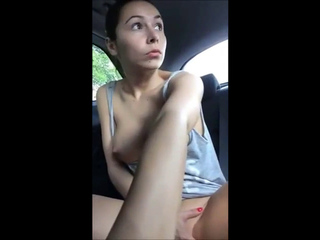 My pussy soaks  the backseat of my car