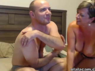 Outstanding big boobs mature milf blowjob first cam