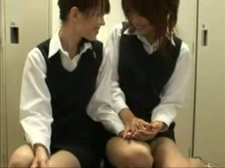 Cute Japanese Lesbian Tongue Kissing Party Full Version (1)