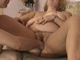 Busty Granny Karinka double teamed