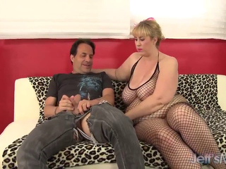 Beautiful blonde BBW pounded hard