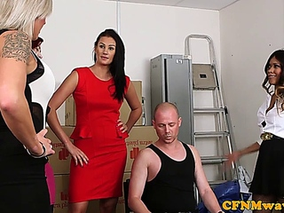 Mean femdom group fun with Kiki Minaj
